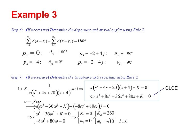 Example 3 Step 6: (If necessary) Determine the departure and arrival angles using Rule