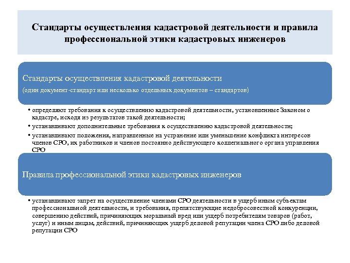 Стандарты осуществления кадастровой деятельности и правила профессиональной этики кадастровых инженеров Стандарты осуществления кадастровой деятельности