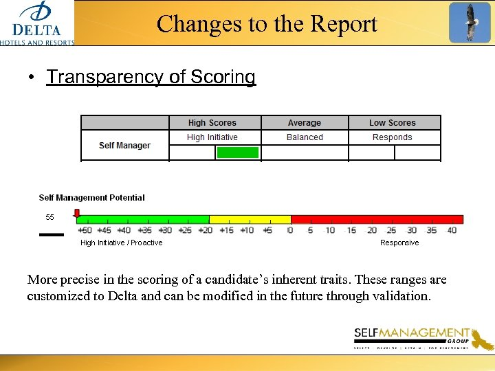 Changes to the Report • Transparency of Scoring More precise in the scoring of