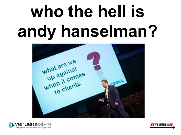 who the hell is andy hanselman?