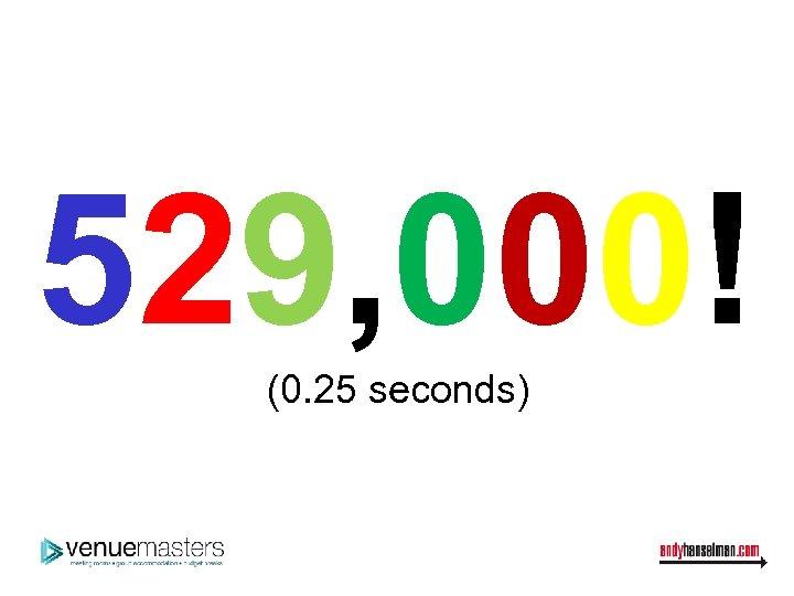 529, 000! (0. 25 seconds)