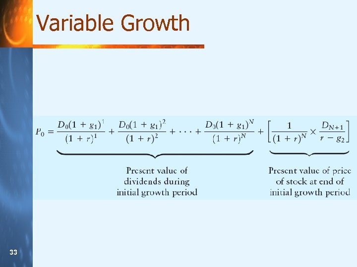Variable Growth 33 33