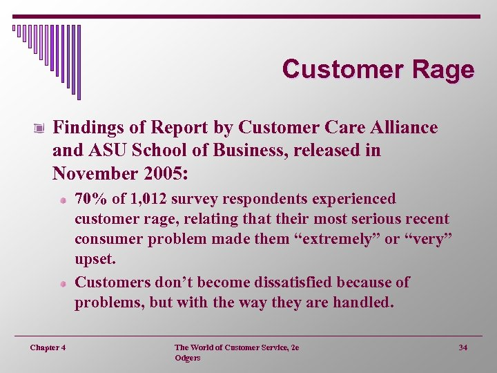 Customer Rage Findings of Report by Customer Care Alliance and ASU School of Business,