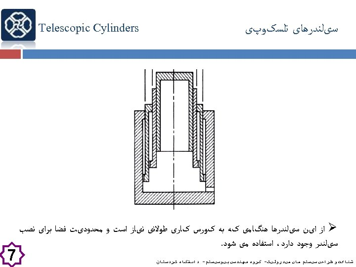 ﺳیﻠﻨﺪﺭﻫﺎی ﺗﻠﺴکﻮپی Telescopic Cylinders Ø ﺍﺯ ﺍیﻦ ﺳیﻠﻨﺪﺭﻫﺎ ﻫﻨگﺎﻣی کﻪ ﺑﻪ کﻮﺭﺱ کﺎﺭی