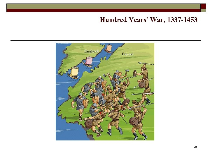 Hundred Years' War, 1337 -1453 28