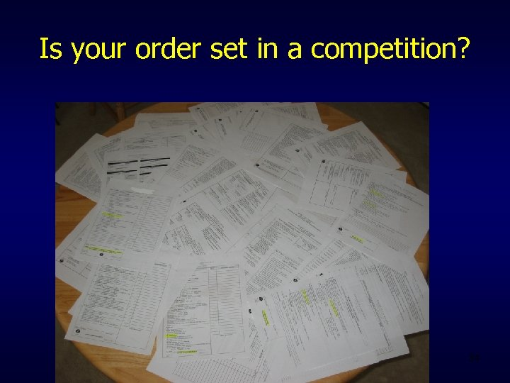 Is your order set in a competition? 34