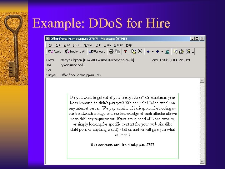 Example: DDo. S for Hire