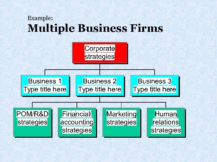 Example: Multiple Business Firms