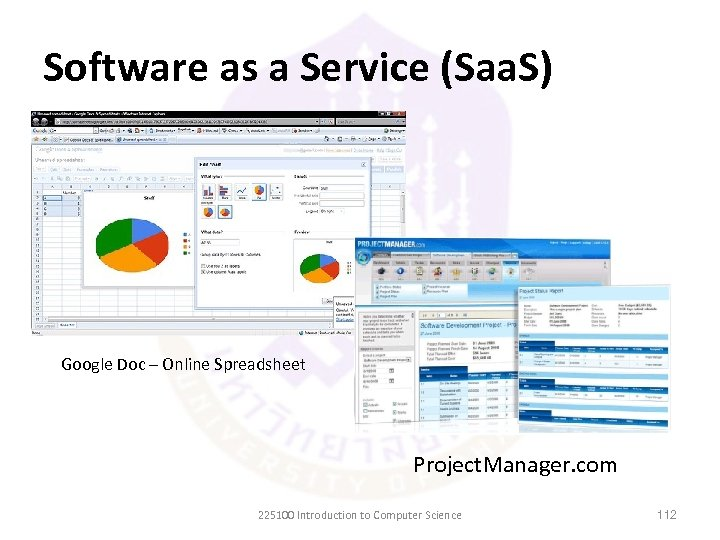 Software as a Service (Saa. S) Google Doc – Online Spreadsheet Project. Manager. com