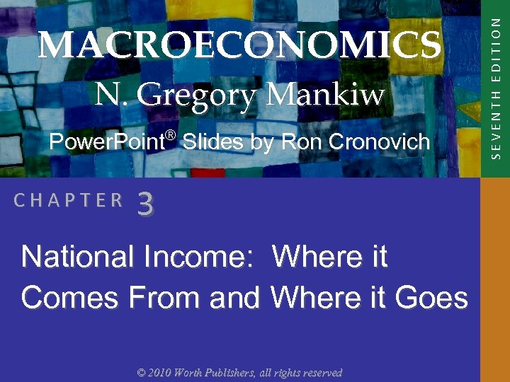 N. Gregory Mankiw Power. Point® Slides by Ron Cronovich CHAPTER 3 National Income: Where