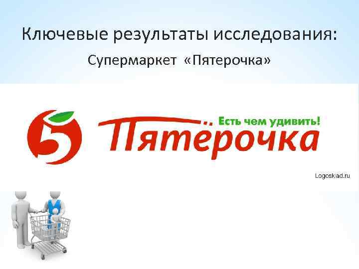 Ключевые результаты исследования: Супермаркет «Пятерочка»