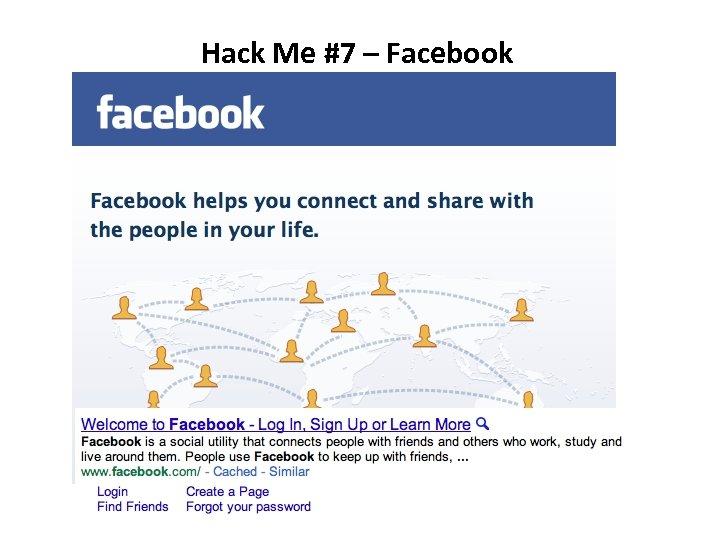 Hack Me #7 – Facebook
