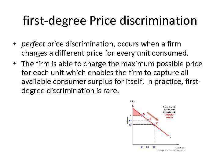 first degree price discrimination