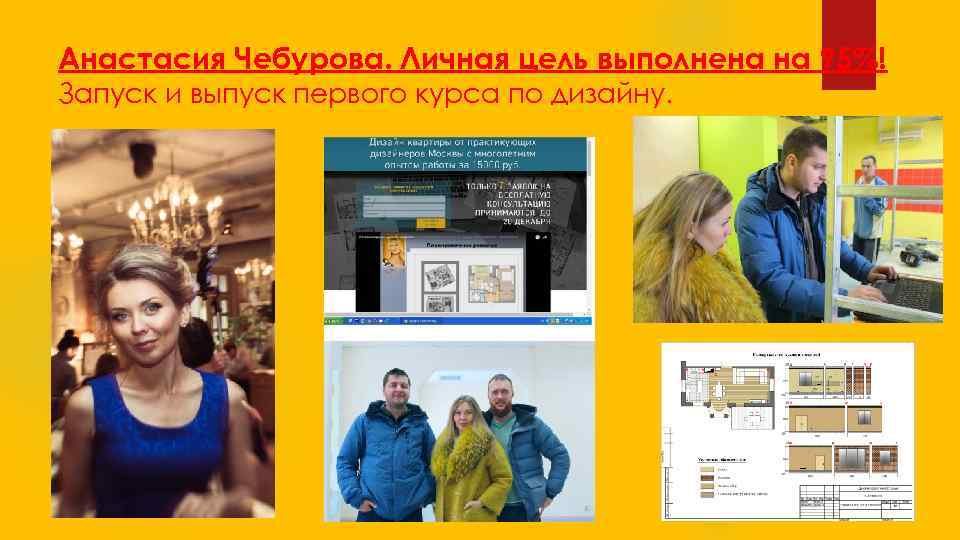 Анастасия Чебурова. Личная цель выполнена на 95%! Запуск и выпуск первого курса по дизайну.