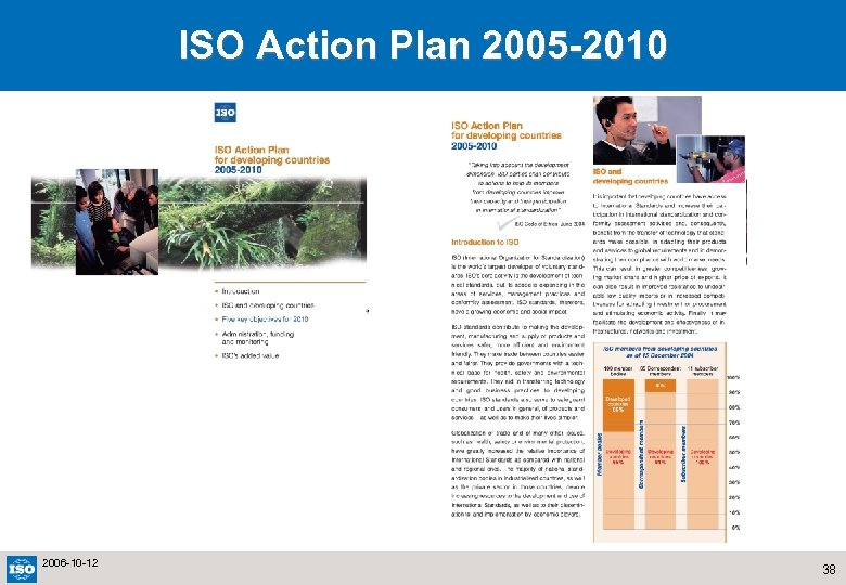 ISO Action Plan 2005 -2010 2006 -10 -12 38