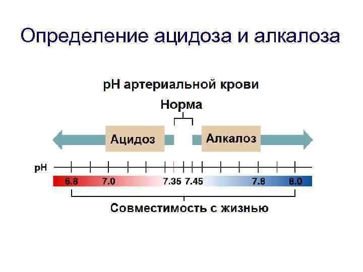 Определение ацидоза и алкалоза
