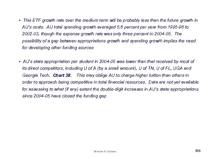 • This ETF growth rate over the medium term will be probably less