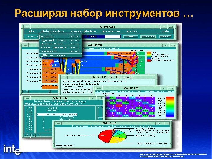 Расширяя набор инструментов … VTune and the Intel logo are trademarks or registered trademarks