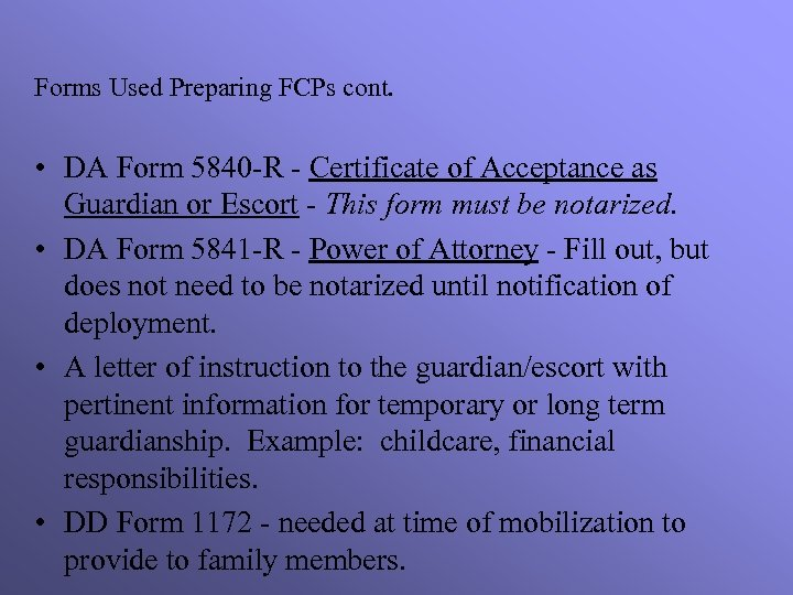 Family Care Plans Msg Barbara Claudel State Family