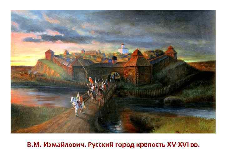 В. М. Измайлович. Русский город крепость XV XVI вв.