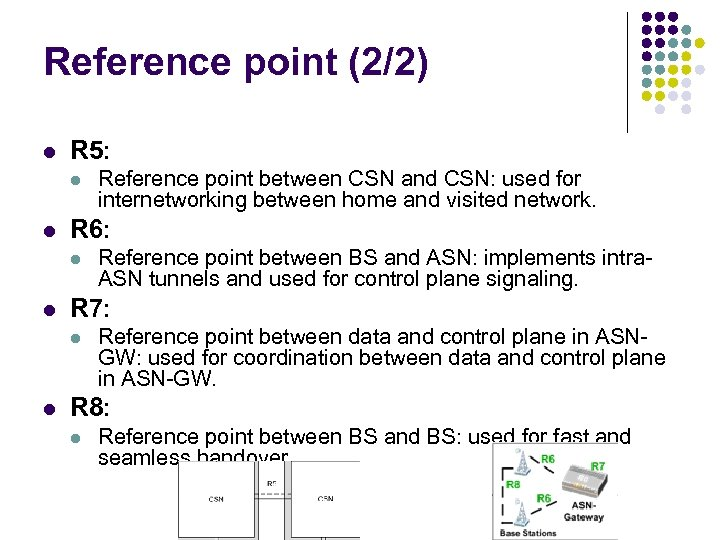 Reference point (2/2) l R 5: l l R 6: l l Reference point
