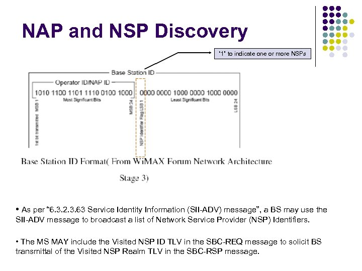 "NAP and NSP Discovery "" 1"" to indicate one or more NSPs • As"