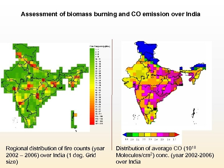 Assessment of biomass burning and CO emission over India Regional distribution of fire counts