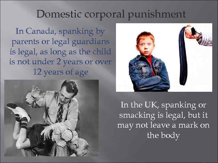 the purpose of corporal punishment How can the answer be improved.