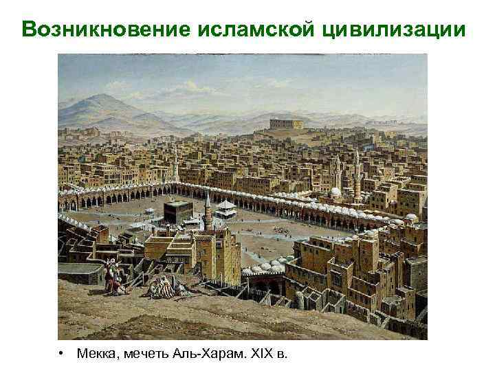 Возникновение исламской цивилизации • Мекка, мечеть Аль-Харам. XIX в.