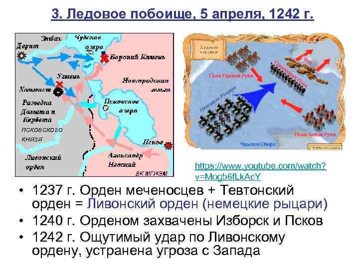 3. Ледовое побоище, 5 апреля, 1242 г. псковского князя https: //www. youtube. com/watch? v=Mogb