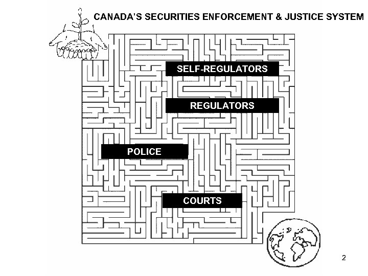 CANADA'S SECURITIES ENFORCEMENT & JUSTICE SYSTEM SELF-REGULATORS POLICE COURTS 2