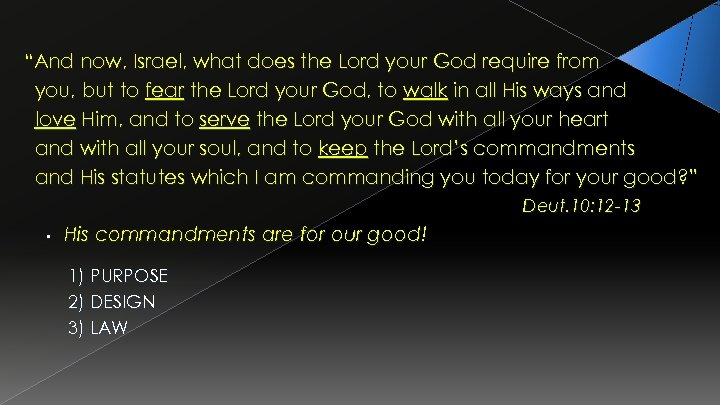 """""""And now, Israel, what does the Lord your God require from you, but to"""