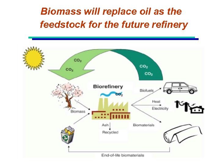 Biomass will replace oil as the feedstock for the future refinery