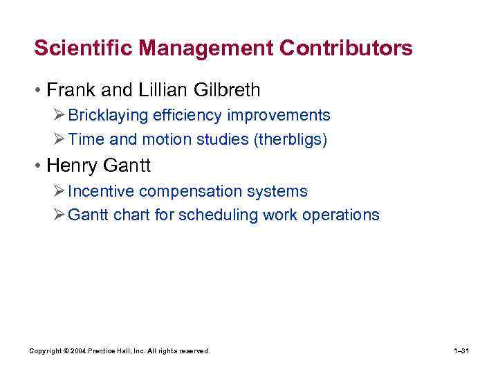frank and lillian gilbreth contribution to management