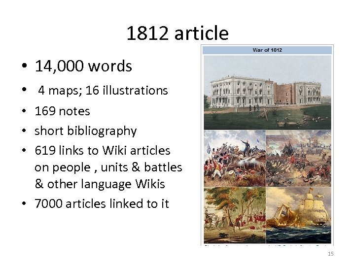 1812 article • 14, 000 words • 4 maps; 16 illustrations • 169 notes