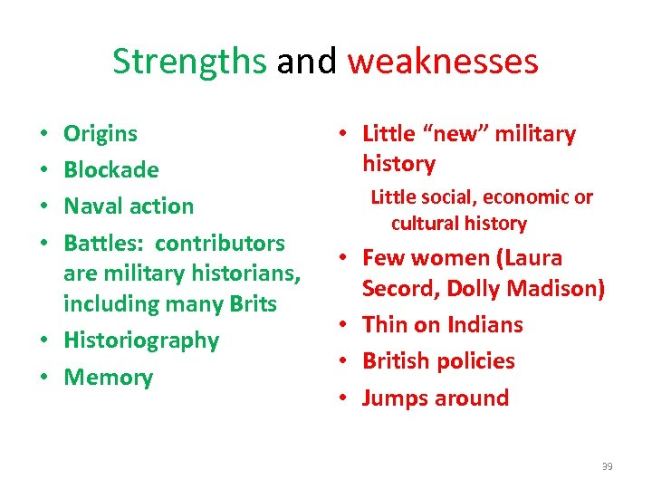 Strengths and weaknesses Origins Blockade Naval action Battles: contributors are military historians, including many