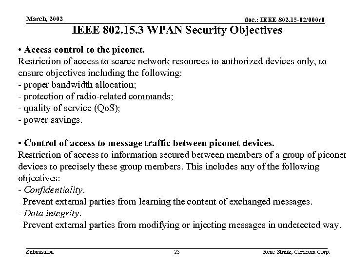 March, 2002 doc. : IEEE 802. 15 -02/000 r 0 IEEE 802. 15. 3