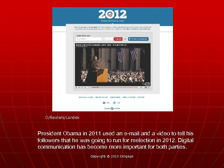 O/Reuters/Landov President Obama in 2011 used an e-mail and a video to tell his
