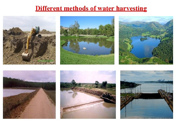 Different methods of water harvesting