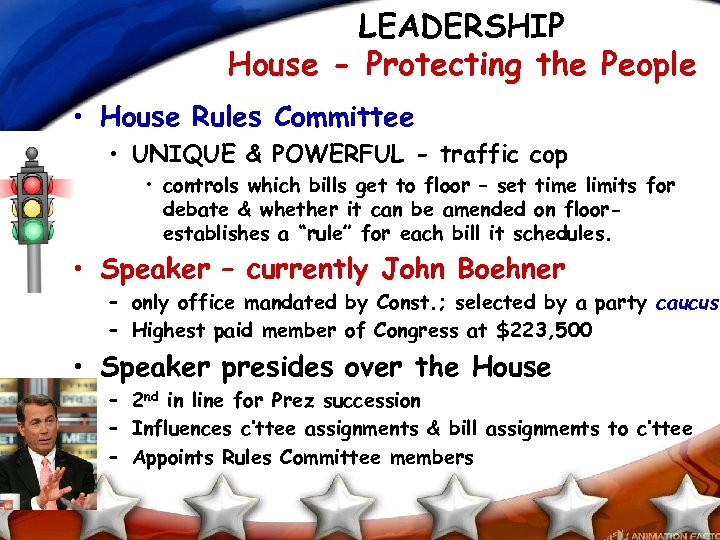 LEADERSHIP House - Protecting the People • House Rules Committee • UNIQUE & POWERFUL