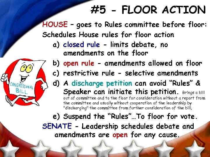 #5 - FLOOR ACTION HOUSE – goes to Rules committee before floor: Schedules House