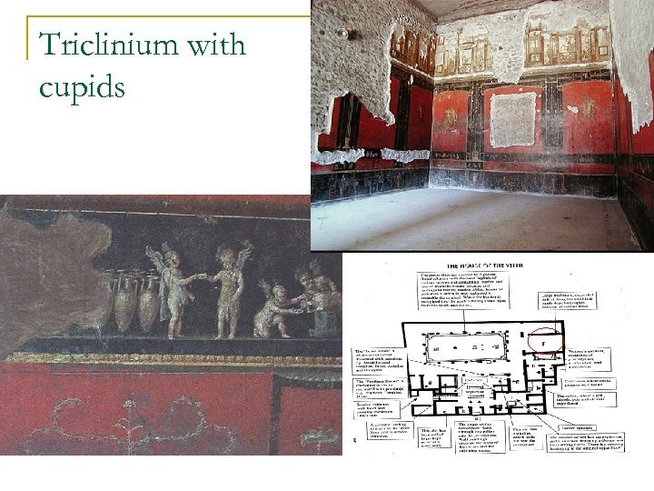 Triclinium with cupids