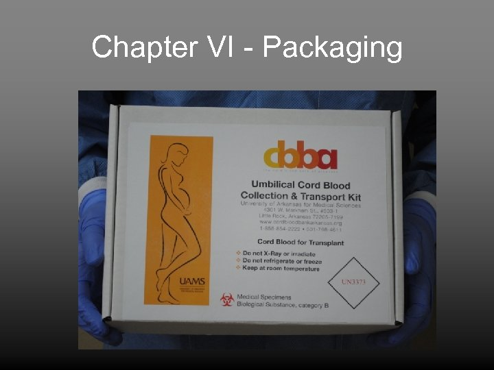 Chapter VI - Packaging