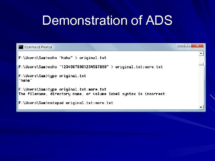 Demonstration of ADS