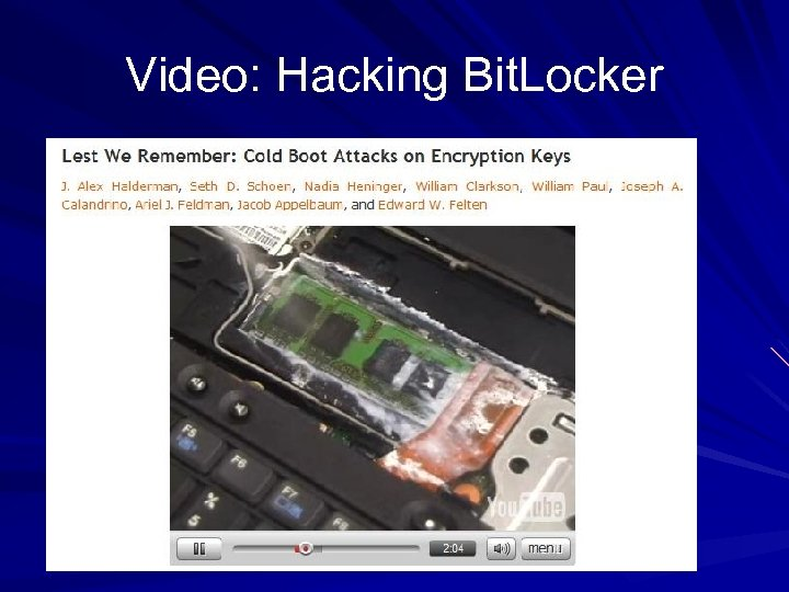 Video: Hacking Bit. Locker