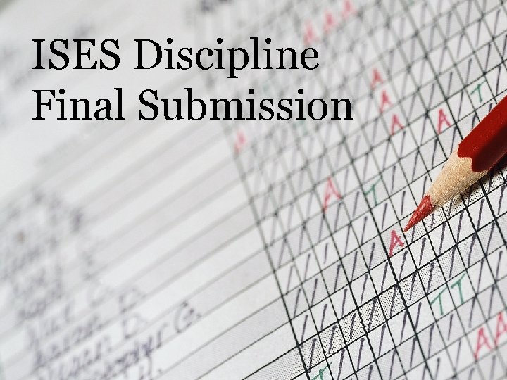 ISES Discipline Final Submission
