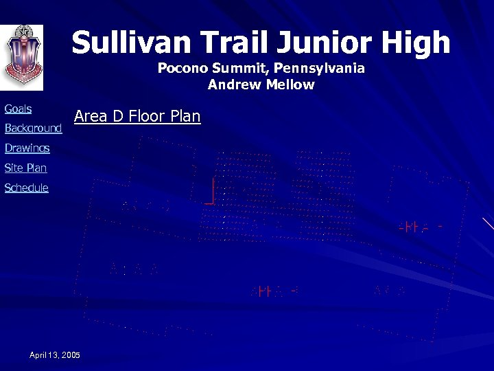 Sullivan Trail Junior High Pocono Summit, Pennsylvania Andrew Mellow Goals Background Area D Floor