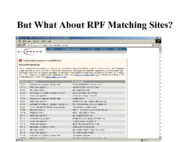 But What About RPF Matching Sites?