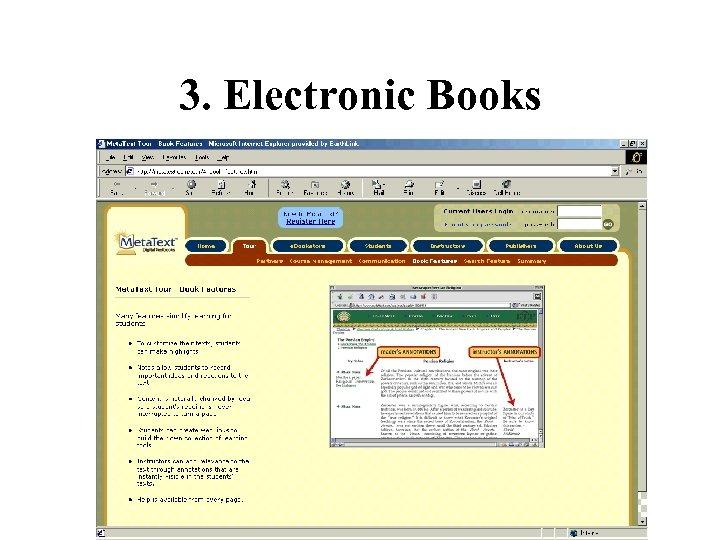 3. Electronic Books