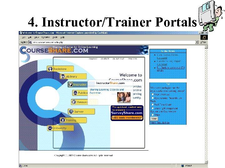 4. Instructor/Trainer Portals